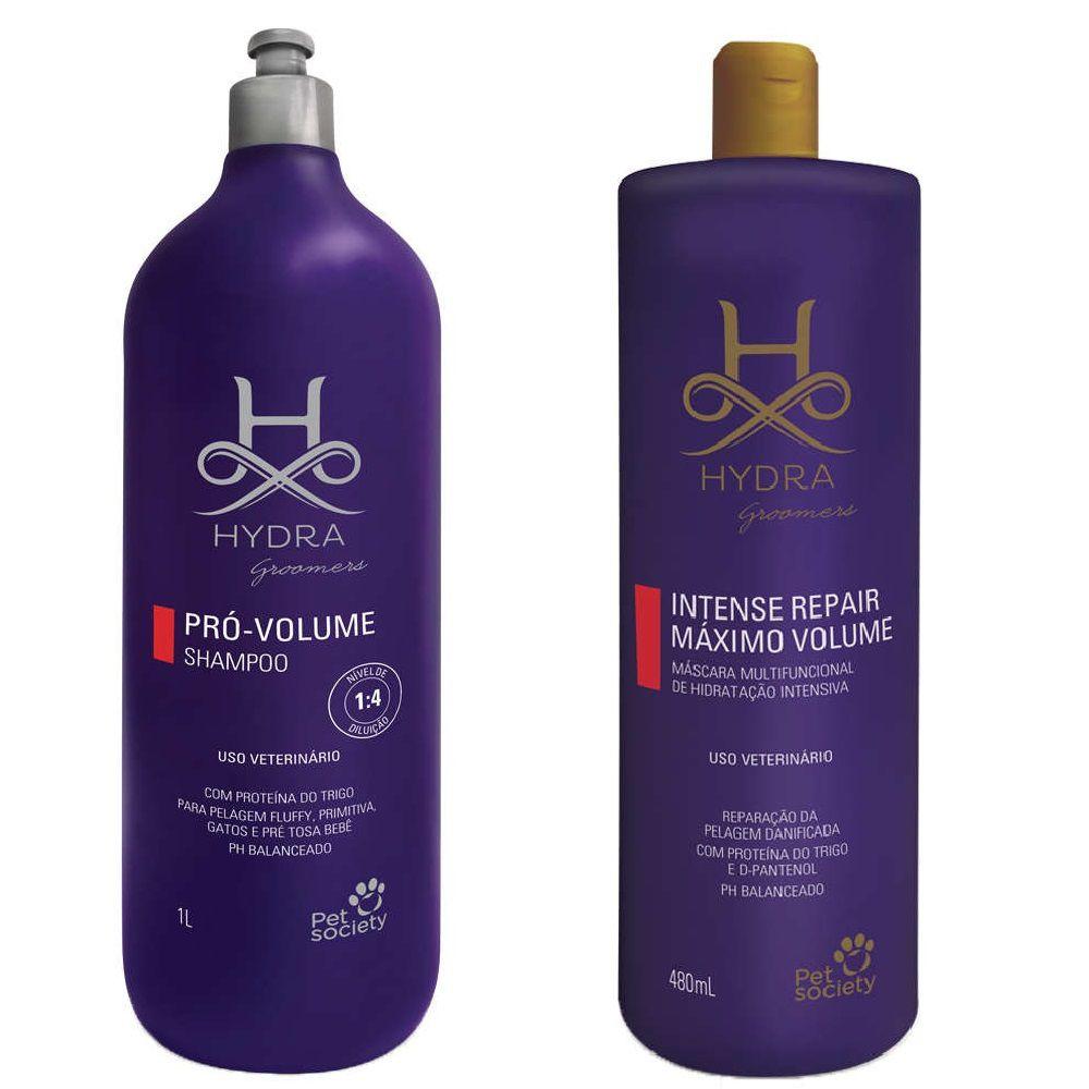 Hydra Shampoo Pró Volume 1l + Máscara Repair Máximo Volume