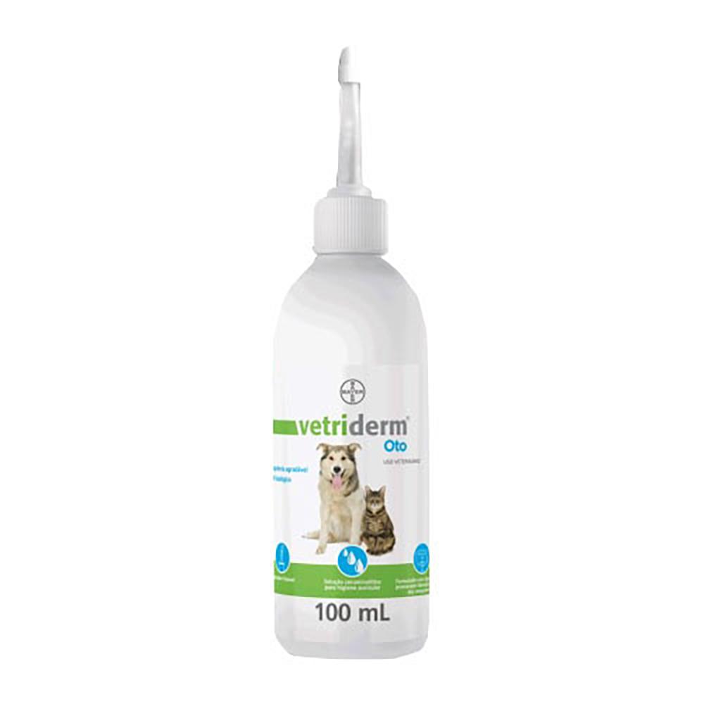 Limpador Auricular Vetriderm Oto Bayer para Cães e Gatos