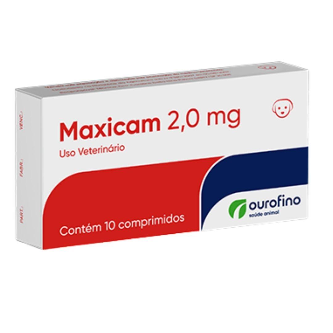 Maxicam Ourofino 2,0mg - 10 Comprimidos - Cães E Gatos