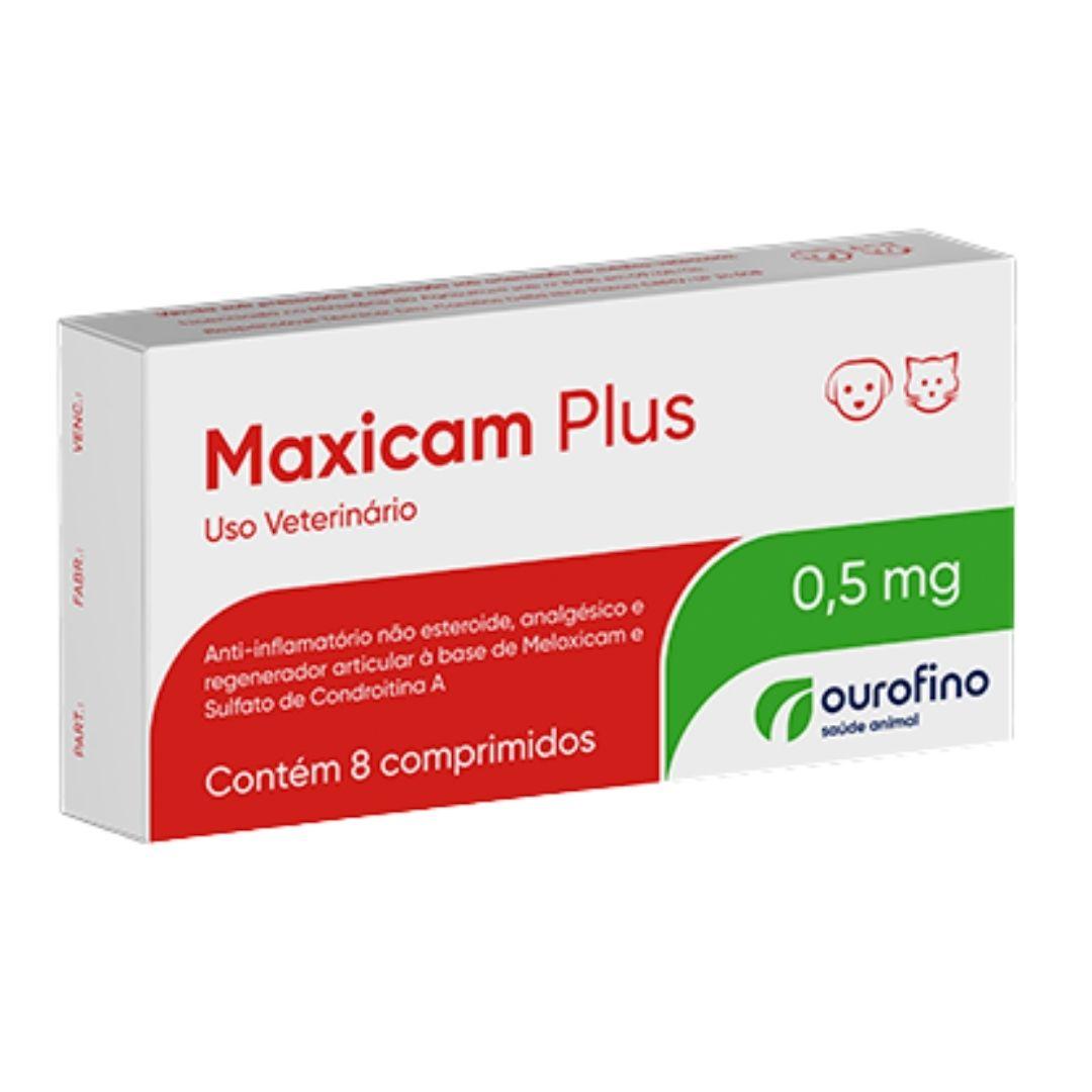 Maxicam Plus Ourofino 0,5mg - 8 Comprimidos -  Cães e Gatos