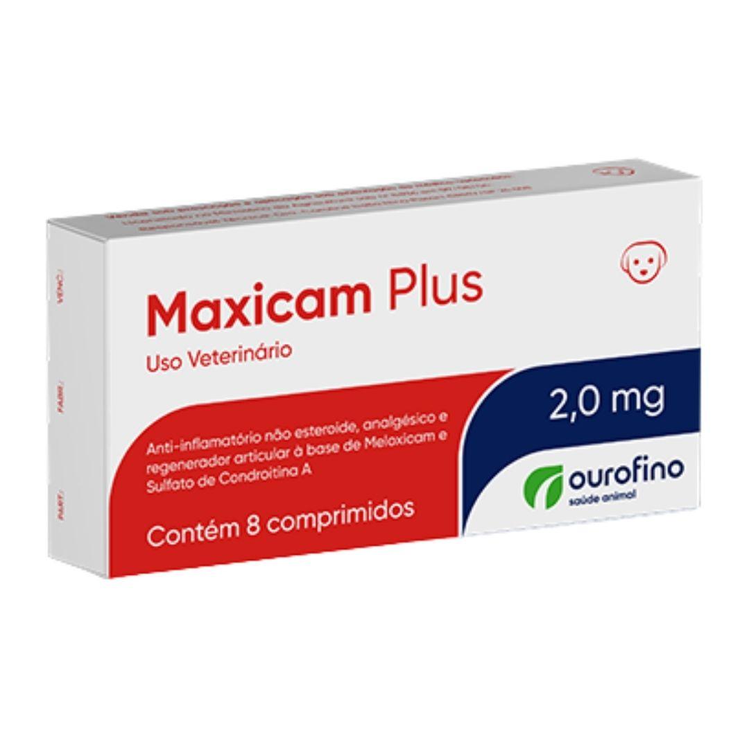 Maxicam Plus Ourofino 2,0mg - 8 Comprimidos -  Cães e Gatos