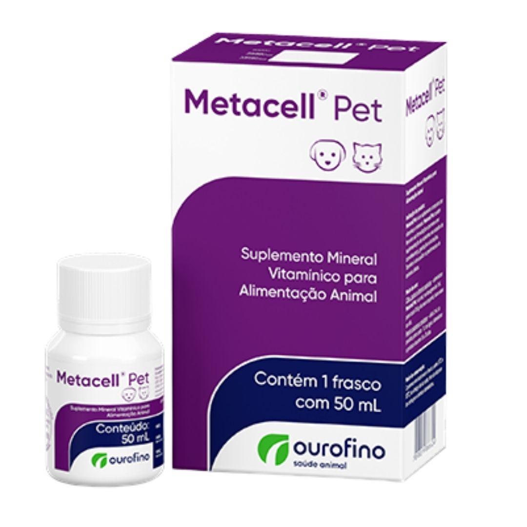 Metacell Pet Ourofino 50ml - Suplemento para Animais e Aves