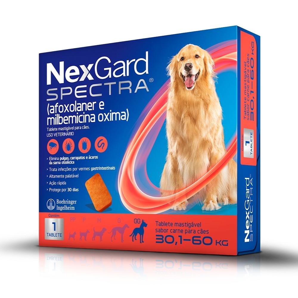 NexGard Spectra Boehringer Antipulgas e Carrapatos para Cães de 30,1 a 60kg