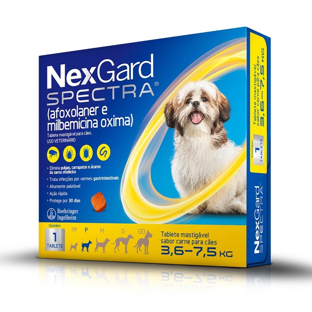 NexGard Spectra Boehringer Antipulgas e Carrapatos para Cães de  3,6 a 7,5kg