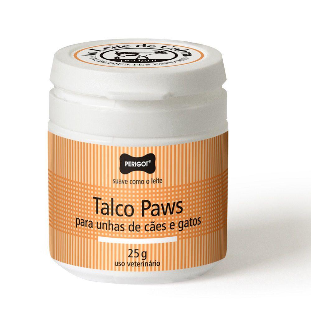 Perigot Talco Paws 25g Ao Leite De Cabra P/ Unhas Cães Gatos