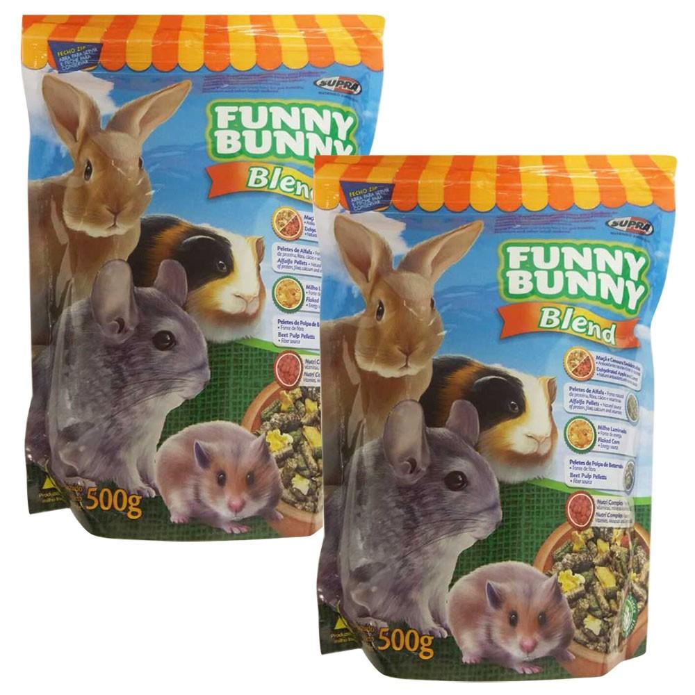 Ração Funny Bunny Blend 500g -  2 Unidades