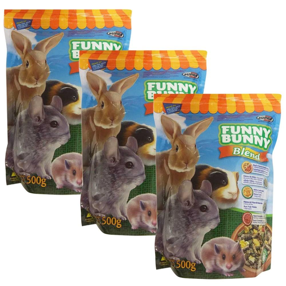 Ração Funny Bunny Blend 500g -  3 Unidades