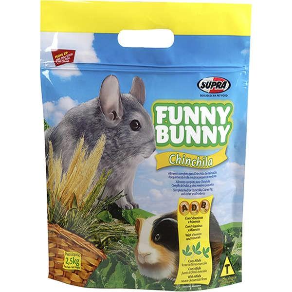 Ração Funny Bunny Chinchila - 2,5Kg - 01 Unidade