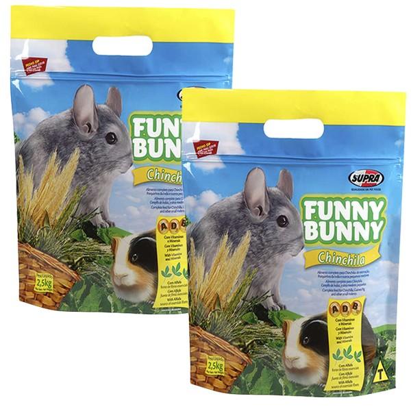 Ração Funny Bunny Chinchila - 2,5Kg - 02 Unidades