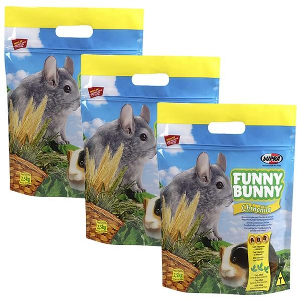 Ração Funny Bunny Chinchila - 2,5Kg - 03 Unidades