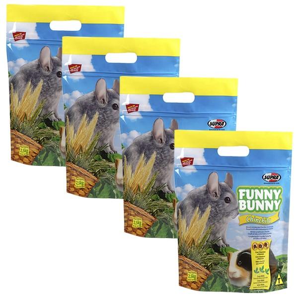 Ração Funny Bunny Chinchila - 2,5Kg - 04 Unidades
