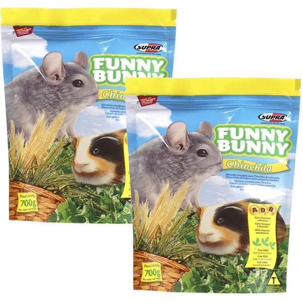 Ração Funny Bunny Chinchila - 700g - 02 Unidades