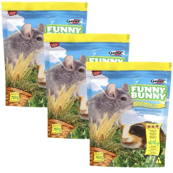 Ração Funny Bunny Chinchila - 700g - 03 Unidades
