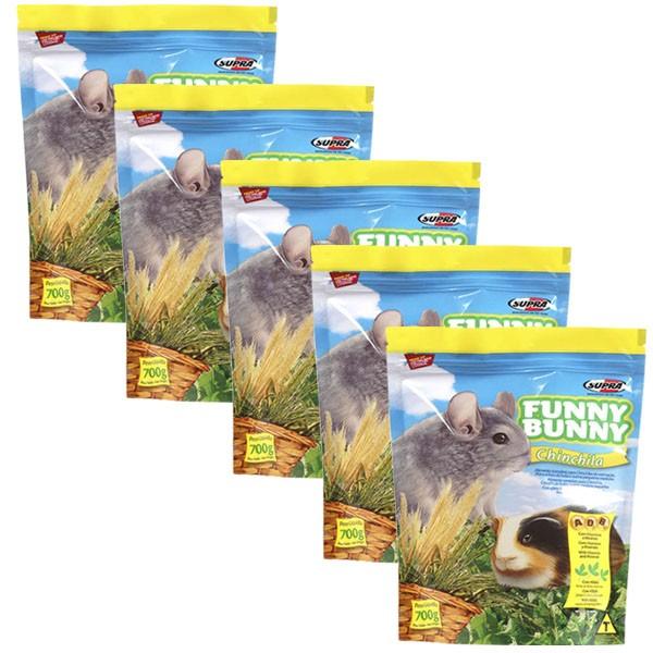 Ração Funny Bunny Chinchila - 700g - 05 Unidades