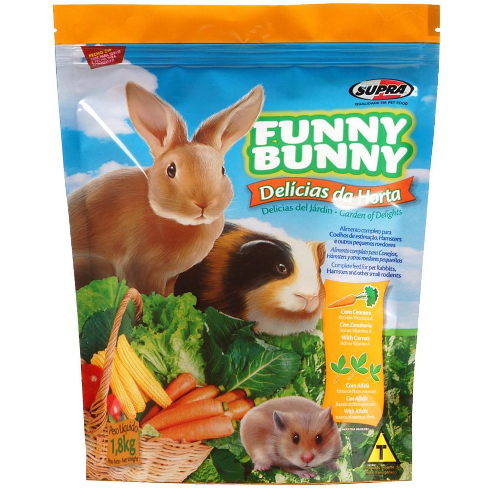 Ração Funny Bunny Delícias Da Horta - 1,8Kg - 1 Unidade