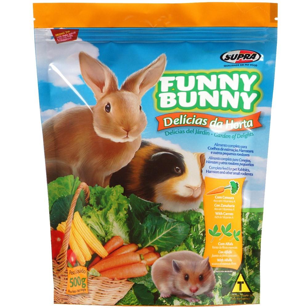 Ração Funny Bunny Delícias Da Horta - 500g
