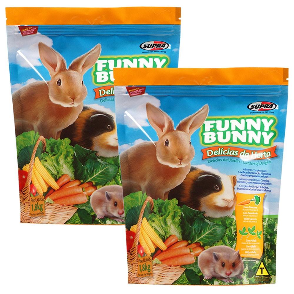 Ração Funny Bunny Delícias Da Horta - 500g -  2 Unidades