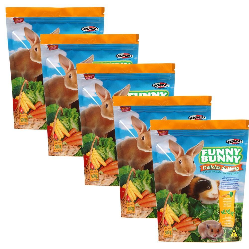 Ração Funny Bunny Delícias Da Horta - 500g -  5 Unidades