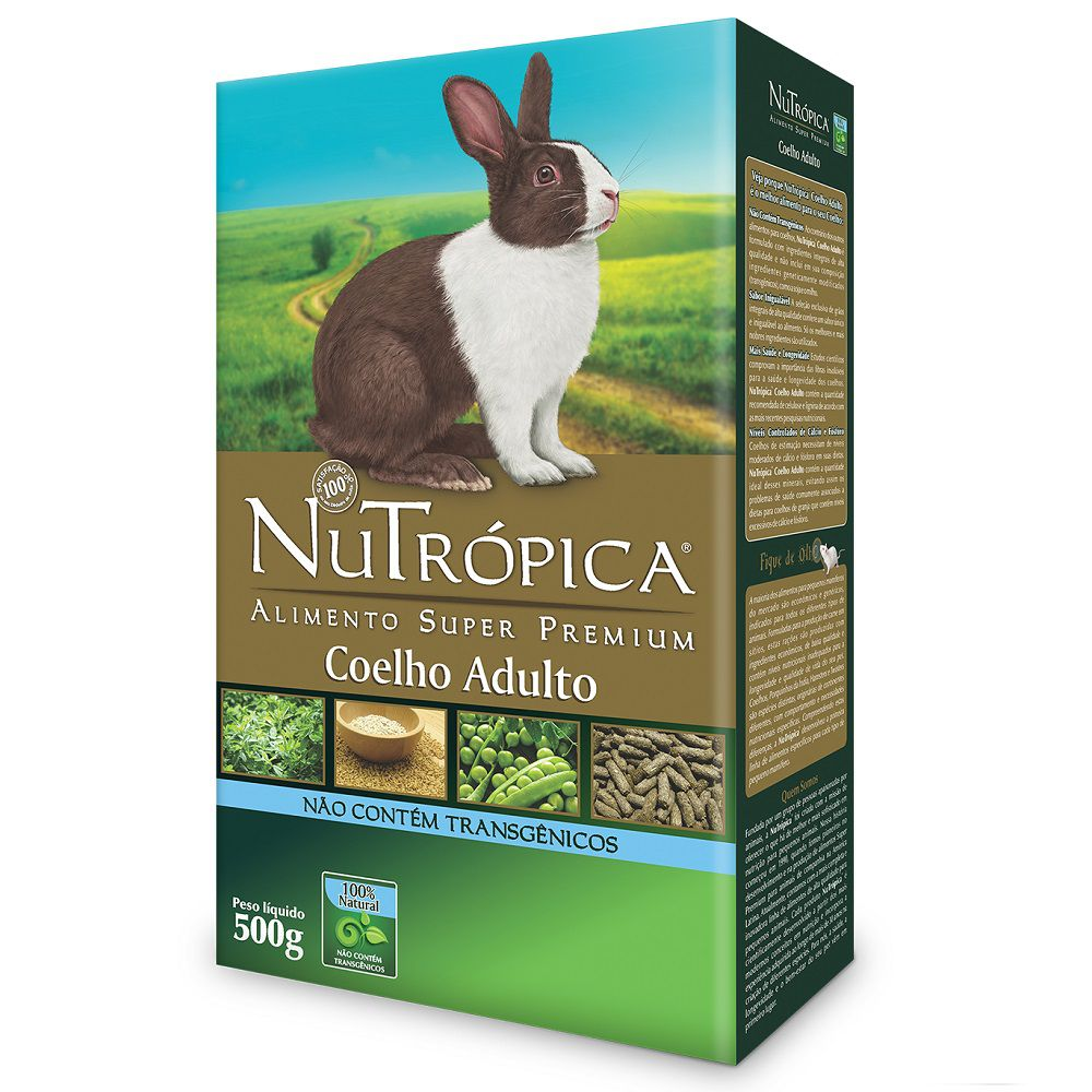 RAÇÃO NUTRÓPICA COELHO ADULTO 500G