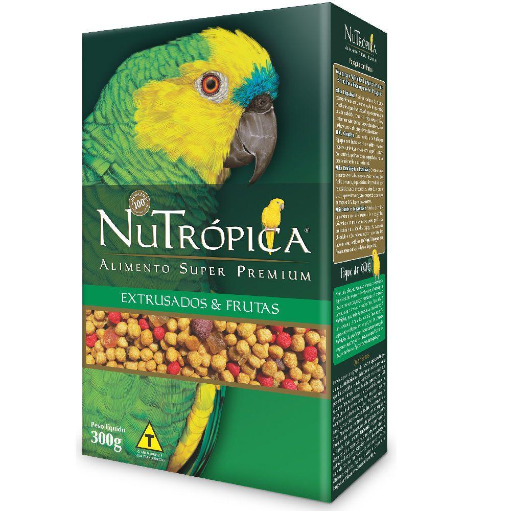 RAÇÃO NUTRÓPICA COM FRUTAS PARA PAPAGAIOS 300G