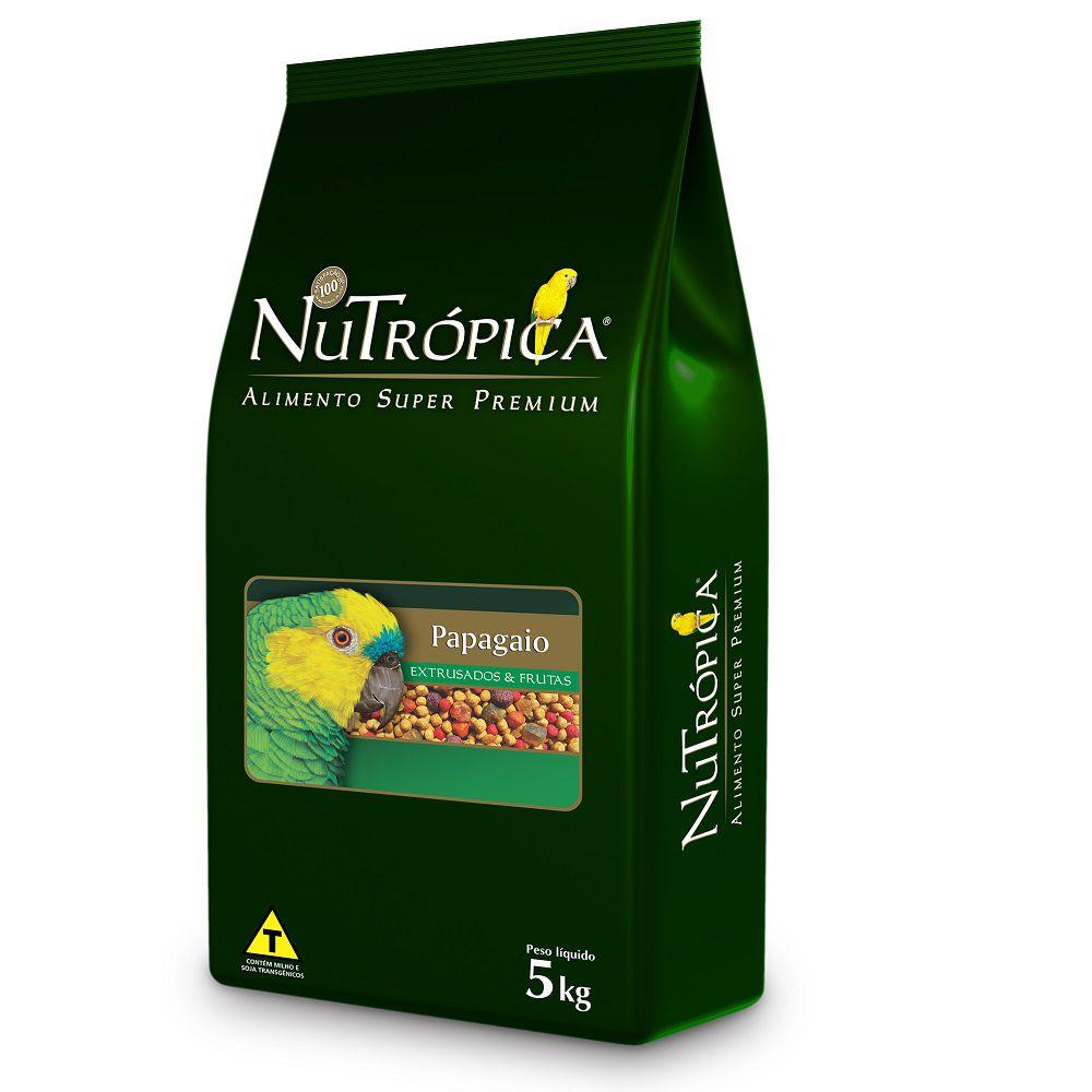 RAÇÃO NUTRÓPICA COM FRUTAS PARA PAPAGAIOS 5KG