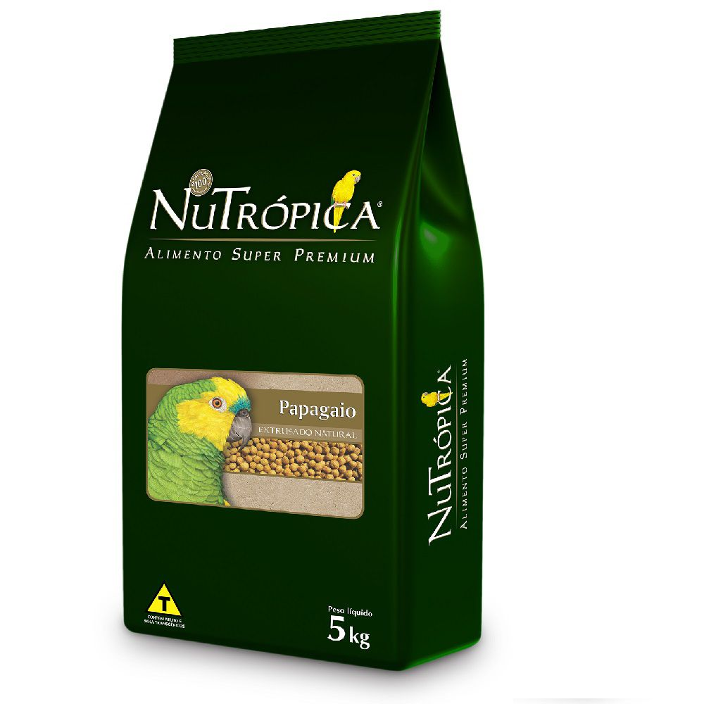 RAÇÃO NUTRÓPICA NATURAL PARA PAPAGAIOS 5KG