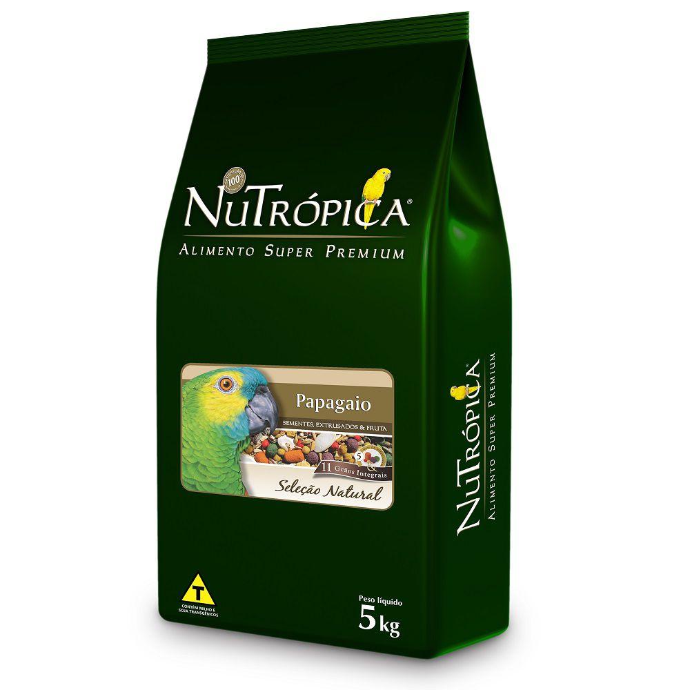 RAÇÃO NUTRÓPICA SELEÇÃO NATURAL PAPAGAIO 5KG