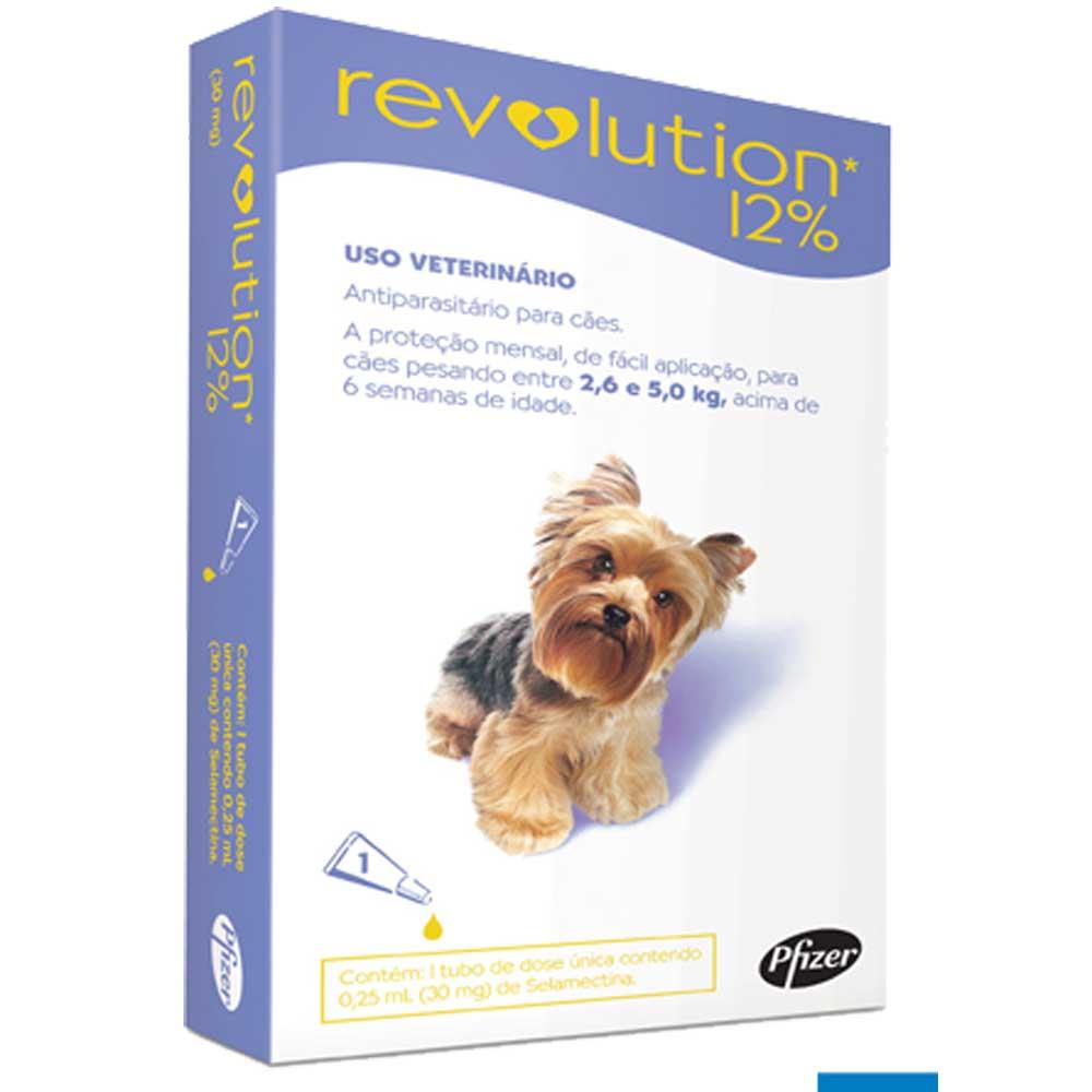 Revolution Antipulgas Para Cães De 2,6 A 05 Kg - 1 Ampola
