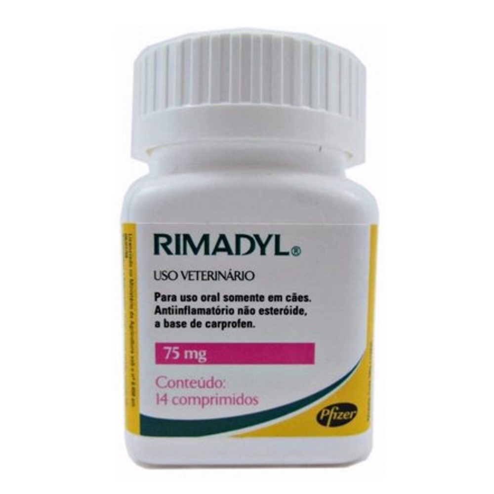 Rimadyl  75mg 14 Comprimidos Zoetis - Para Cães