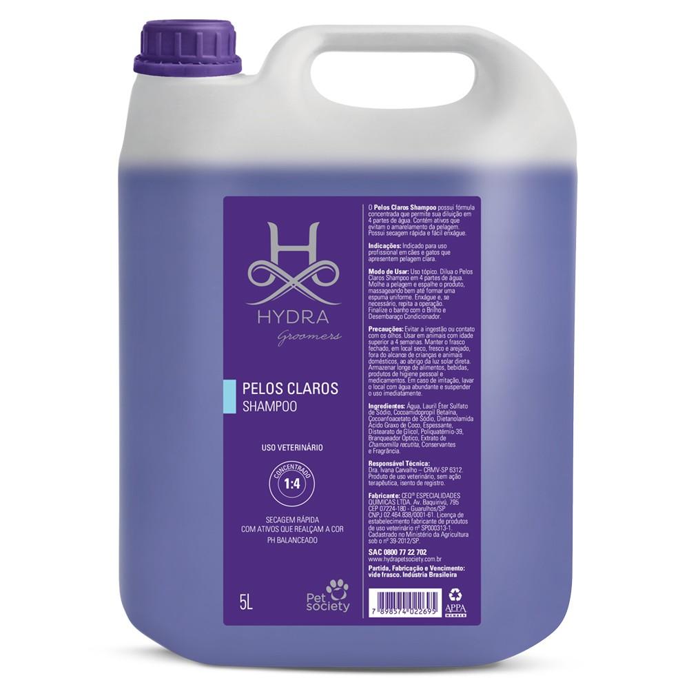 Shampoo Pelos Claros Hydra Pet Society 5l - 1:4