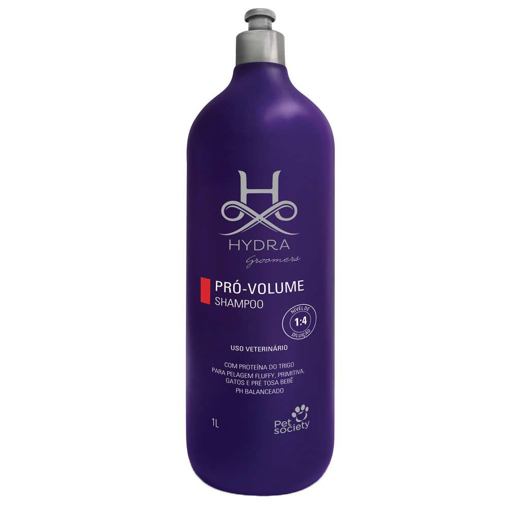 Shampoo Pet Society Hydra Groomers Pró Volume 1l
