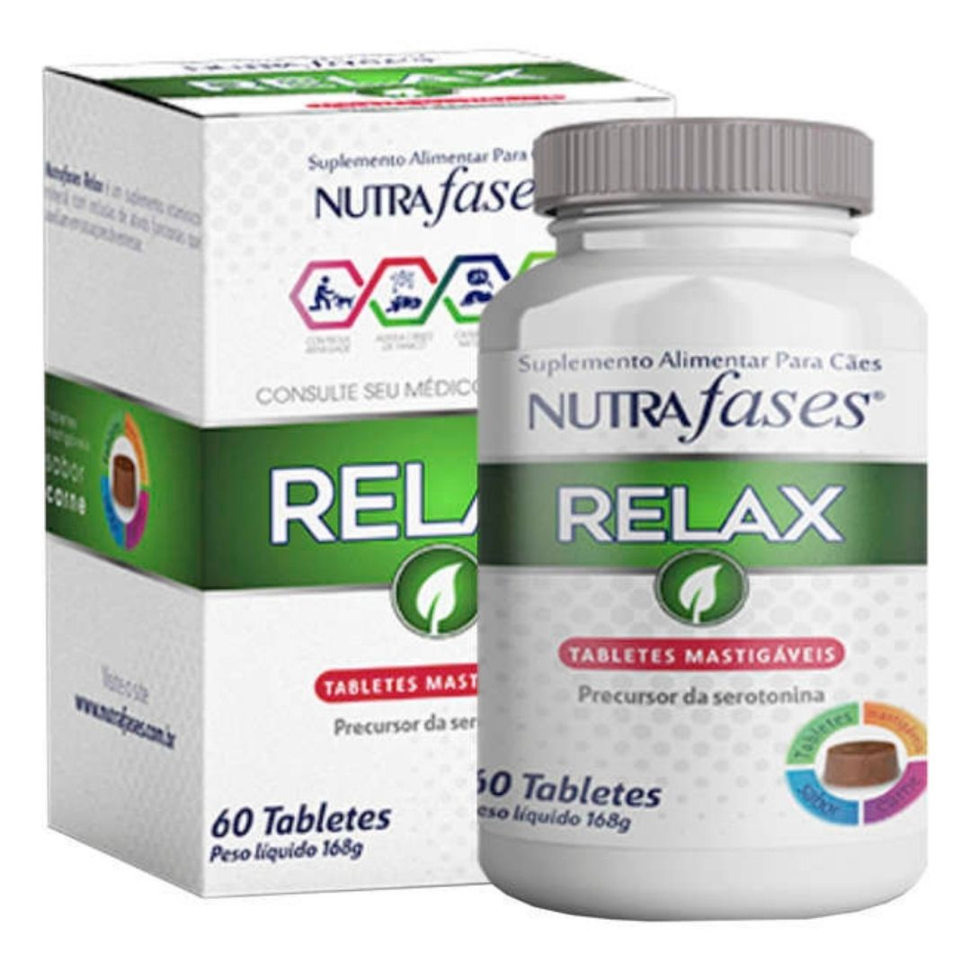 Suplemento Alimentar Nutrafases Relax Cães 60 Tabletes