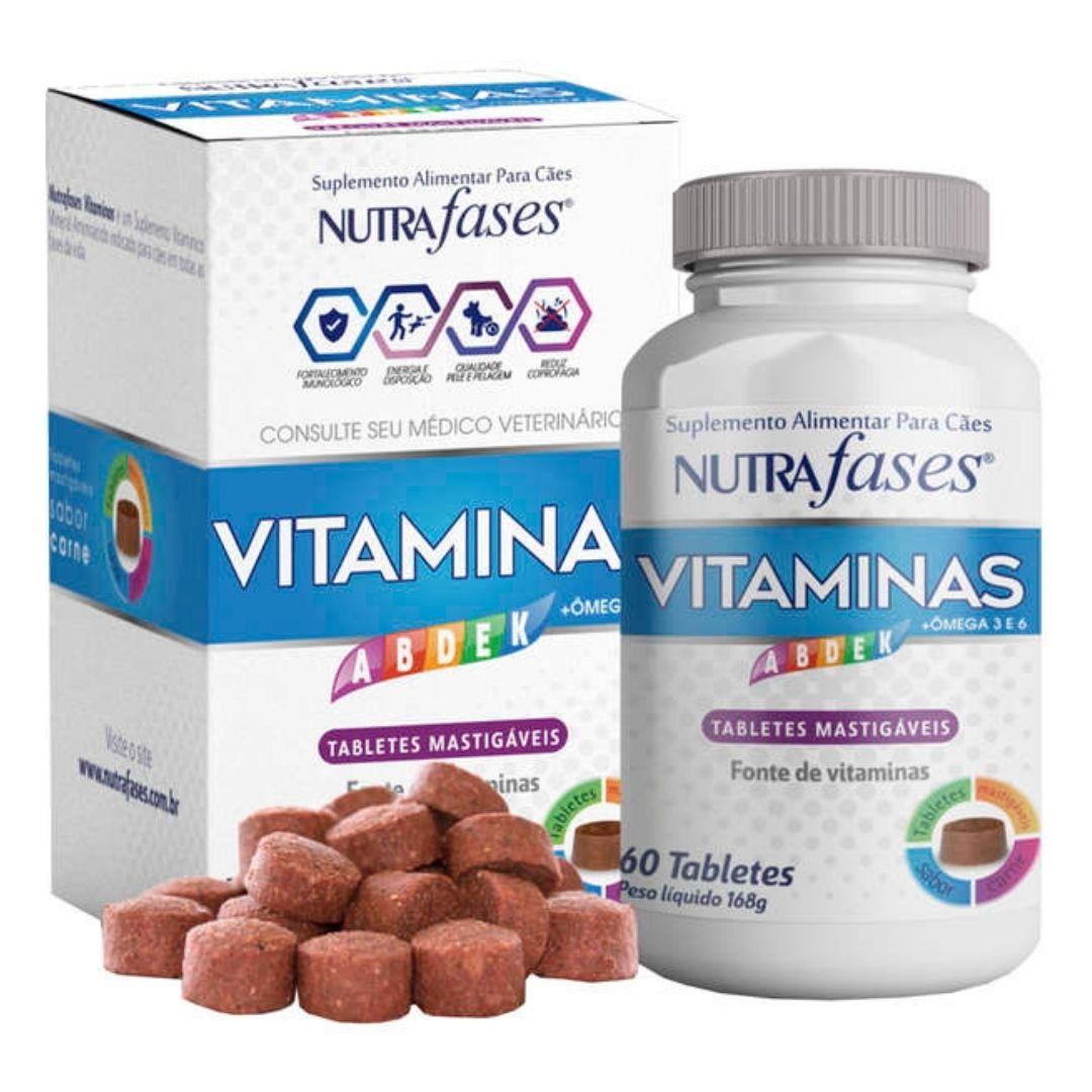 Suplemento Alimentar Vitaminas Nutrafases Cães 60 Tabletes