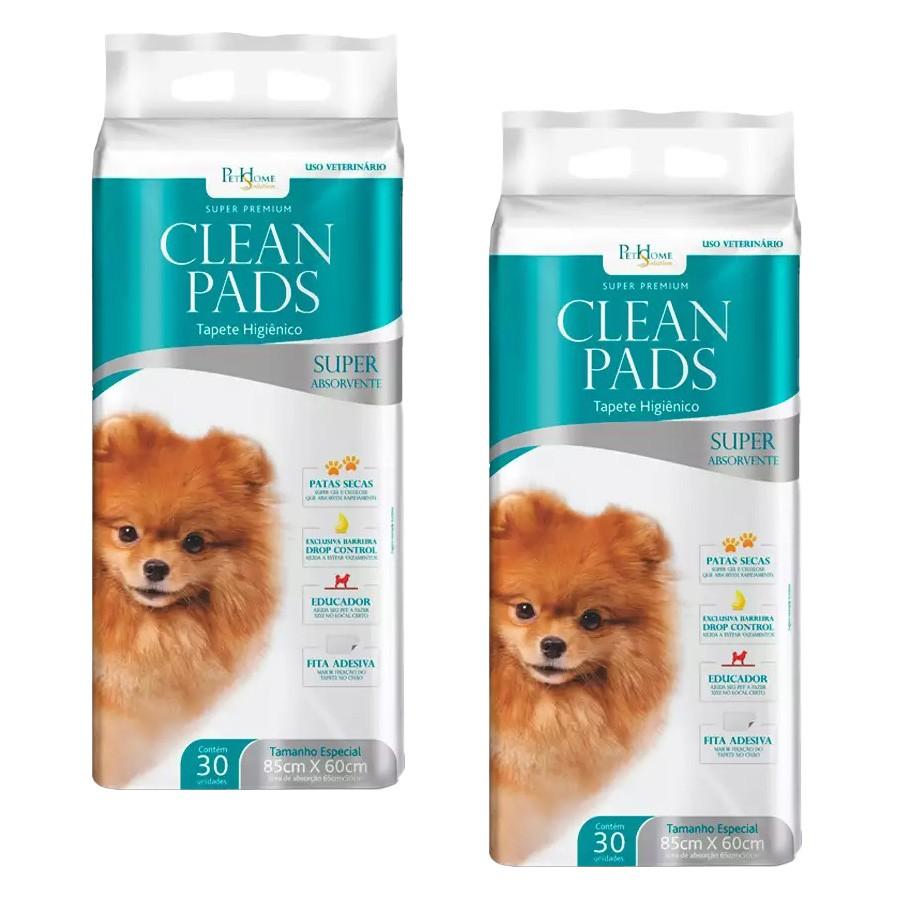 Tapete Higiênico Clean Pads 02 Pacotes C/ 30 Unidades