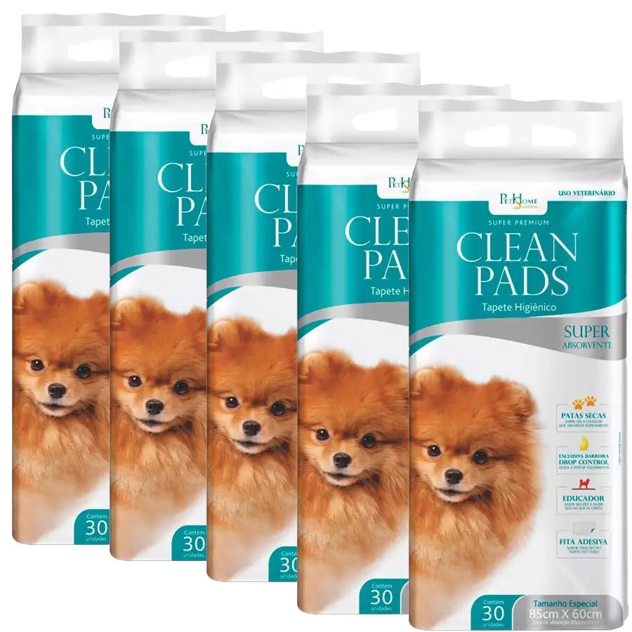 Tapete Higiênico Clean Pads 05 Pacotes C/ 30 Unidades