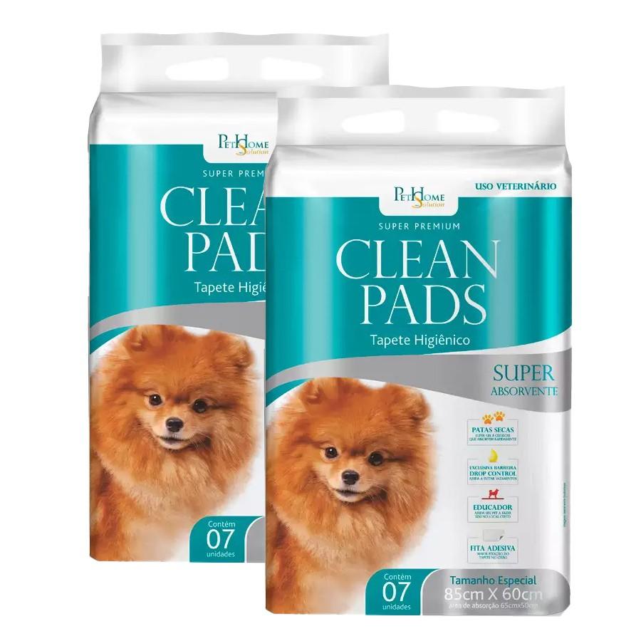 Tapete Higiênico Clean Pads 2 Pacotes C/ 7 Unidades