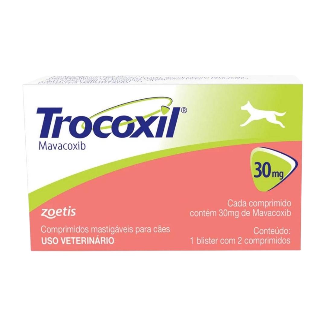 Trocoxil 30mg Zoetis - 2 comprimidos Anti-inflamatório para cães