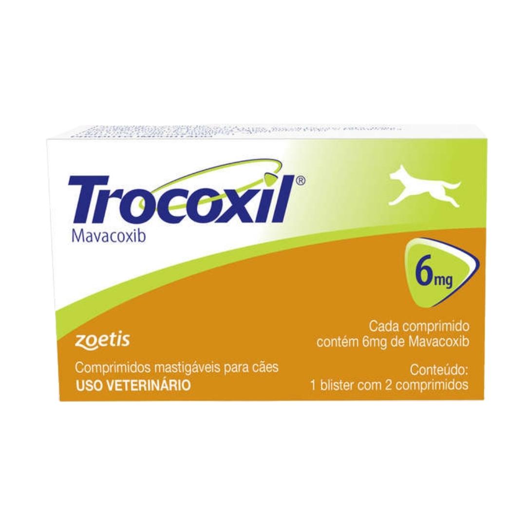 Trocoxil  6mg Zoetis - 2 comprimidos Anti-inflamatório para cães