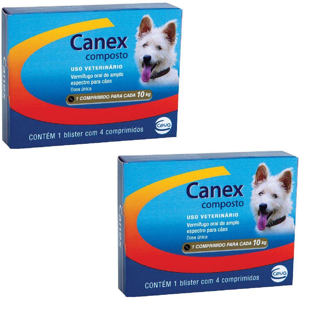 Vermífugo Ceva Canex Composto Cães De Até 10 Kg / 2 Unidades