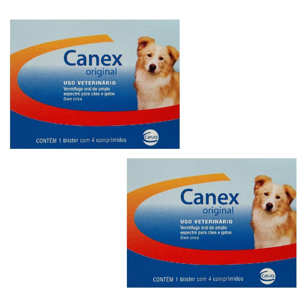 Vermífugo Ceva Canex Original Cães 02 Caixas C/4 Comprimidos