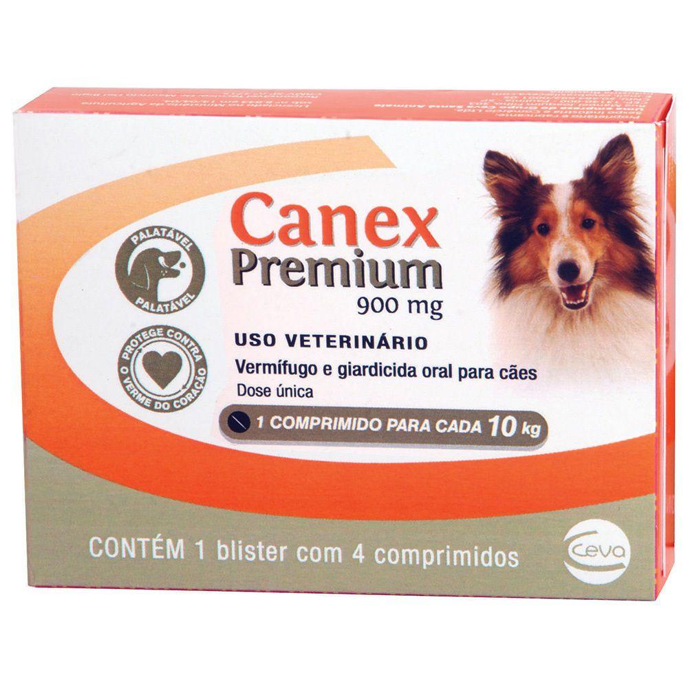 Vermífugo Ceva Canex Premium 900mg (Para 10 Kg) - Kit Com 02