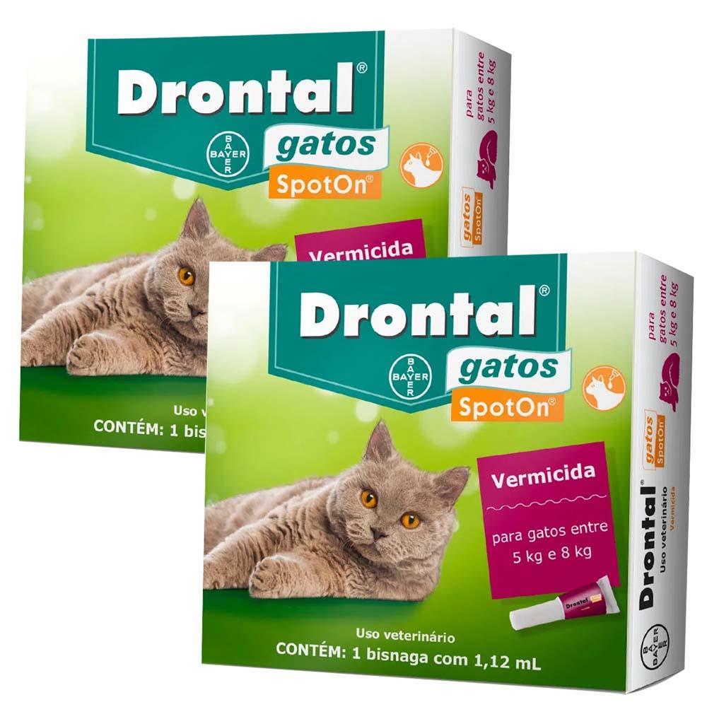 Vermífugo Drontal Spot On Gatos de 5kg a 8kg Bayer