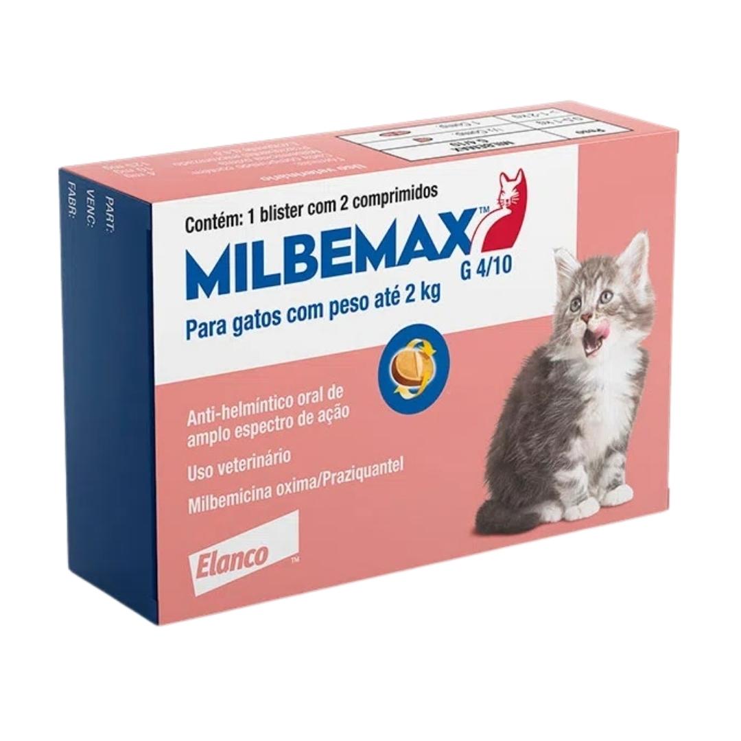 Vermífugo Milbemax FC Elanco para gatos até 2kg - 2 comprimidos