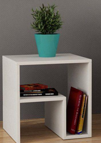 Mesa Lateral,criado Mudo,aparador,mesa De Canto 60Lx60Ax25P  - Virtude Móveis