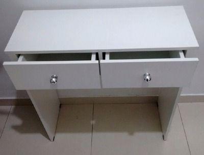 Mesa Manicure /escrivaninha, aparador- Com 2 GAVETAS  - Virtude Móveis
