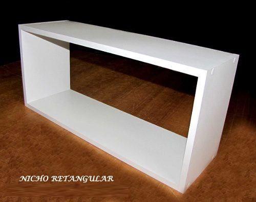 Nicho Retangular 60x25x15 Cm-100%mdf 15mm Branco  - Virtude Móveis