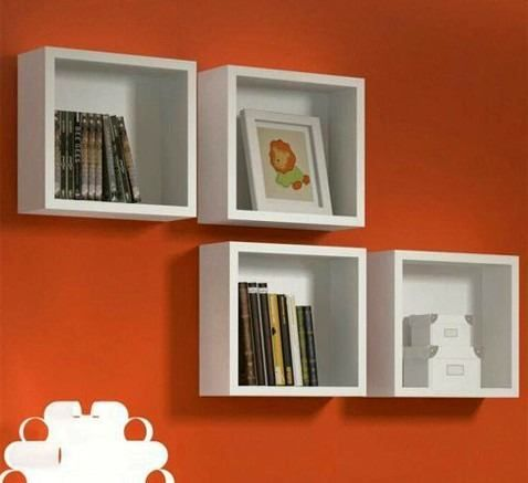 Nicho Com Fundo 30x30x15 Cm-100%mdf 15mm Branco- Decorativo -Virtude móveis  - Virtude Móveis