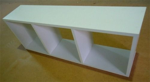 Nicho Retangular C/ 3 Quadrados- p/livros 80x30x20cm -100% Mdf  - Virtude Móveis