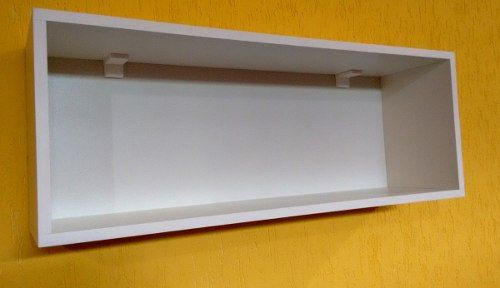 Nicho Retangular 80x30x20 Cm-100%mdf 15mm Branco-com Fundo  - Virtude Móveis