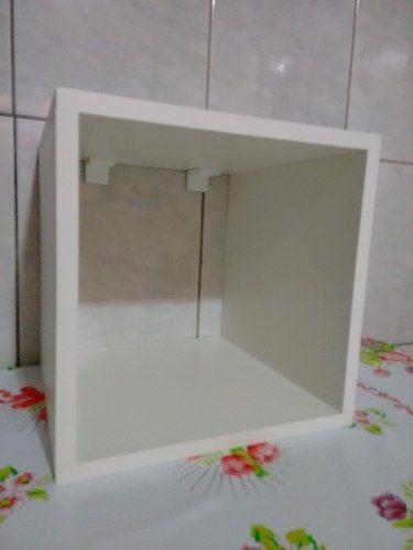 Nicho cubo Quadrado 30x30x30 Cm-100%mdf 15mm Branco  - Virtude Móveis